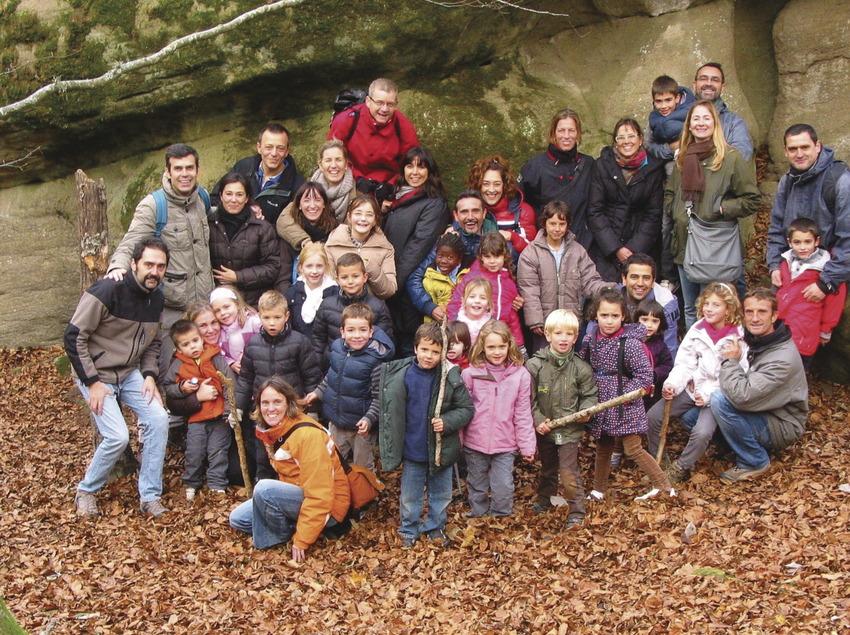 Grupo de familias con niños   (Rupit Viu)