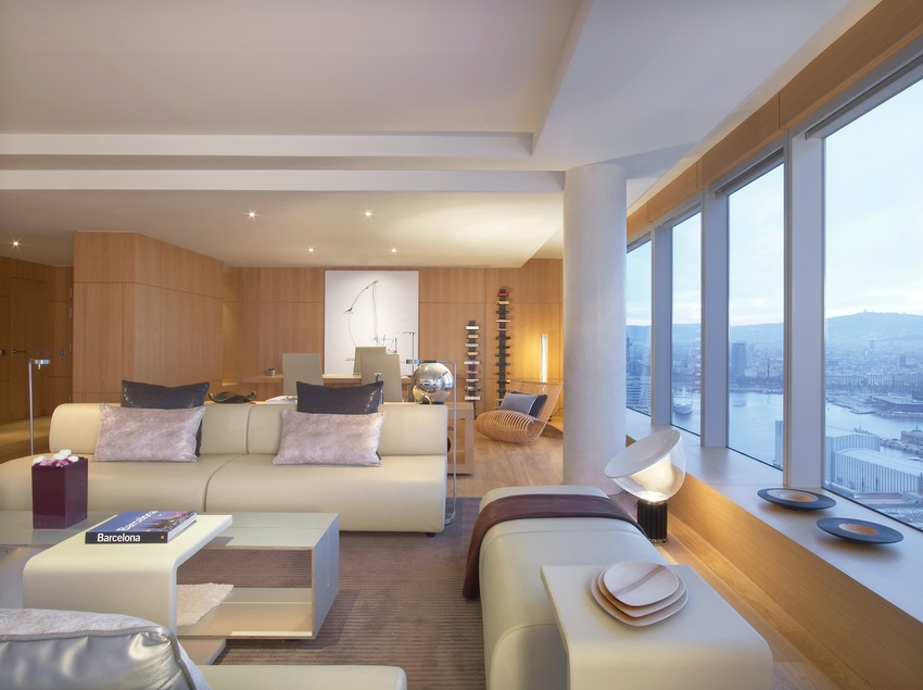 Sala d'estar Suite Extreme WOW   (W Barcelona)