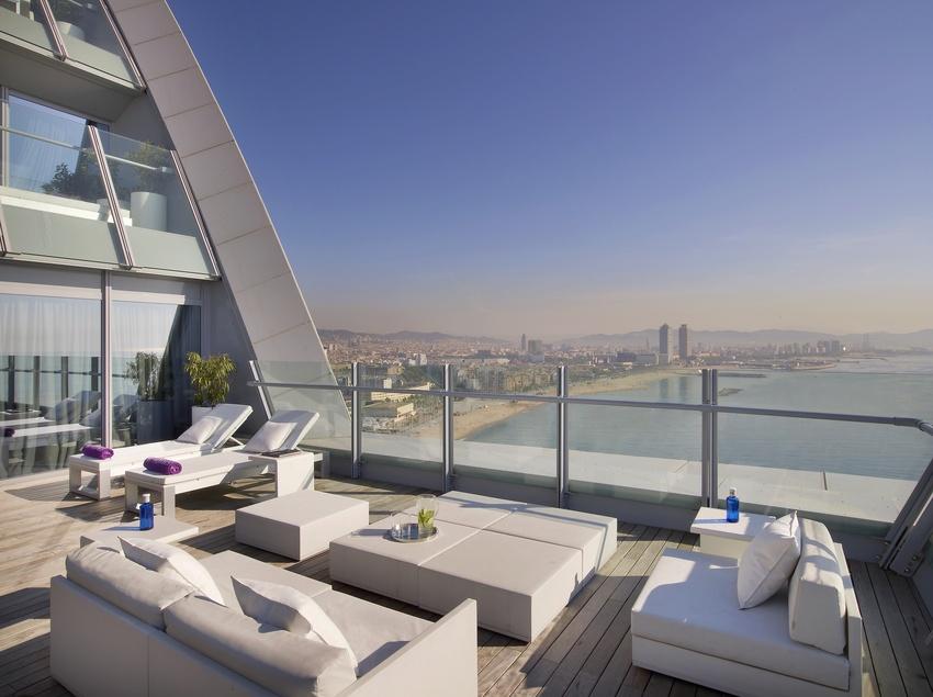 Terrassa de la Spectacular suite   (W Barcelona)