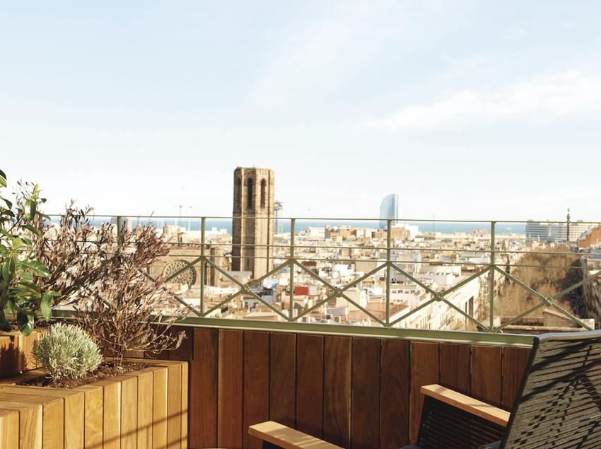 Balcó amb vistes a Santa Maria del Mar   (Le Méridien Barcelona)