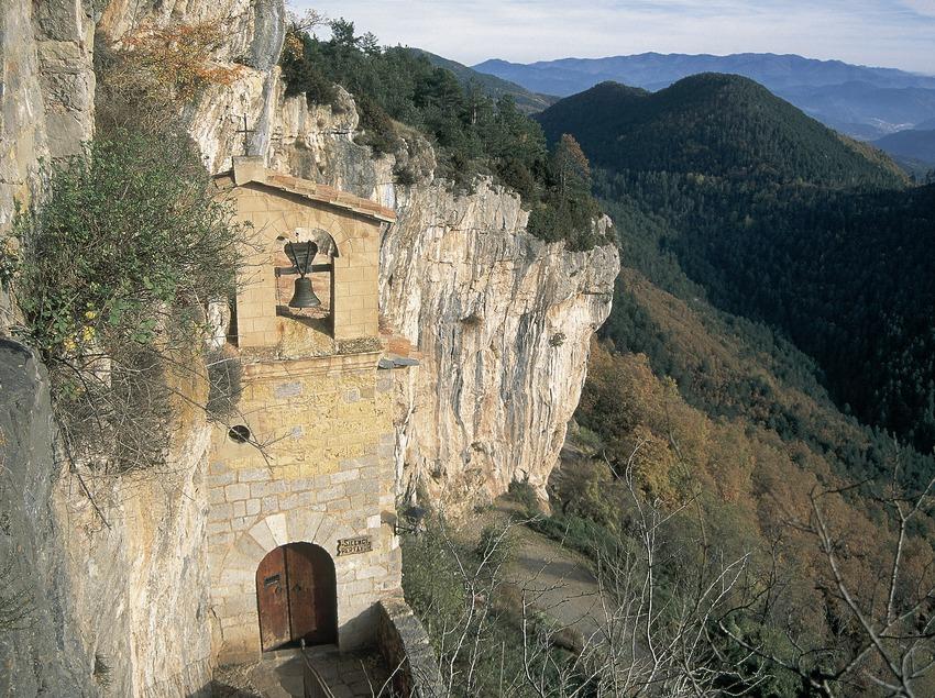 Façade of Montgrony sanctuary