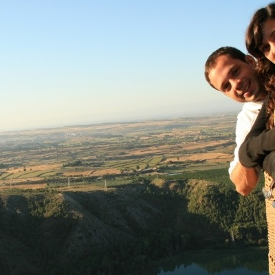 Balloon flight between the Pyrenees and Camarasa