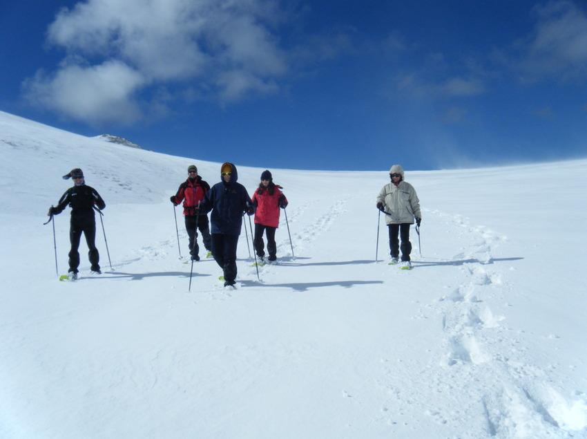 Tram de descens d'una excursió amb raquetes de neu    (INDÒMIT Centre d'Aventura)