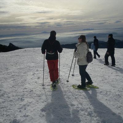 Paisaje desde la cima de la excursión con raquetas de nieve     (INDÒMIT Centre d'Aventura)