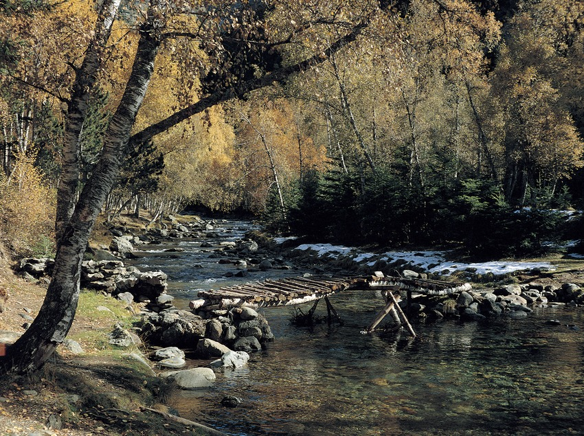 Puente sobre el río Lladorre, Llanura de Boavi.