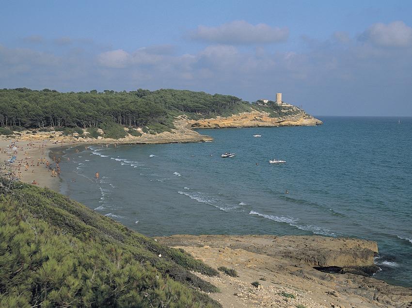 Cala Calabeig o de la Roca Plana a l'espai protegit del Bosc de la Marquesa.  (Rafael López-Monné)