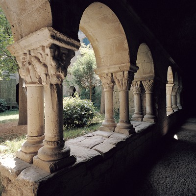 Claustro del monasterio de Sant Benet de Bages. Món Sant Benet   (Toni Vidal)