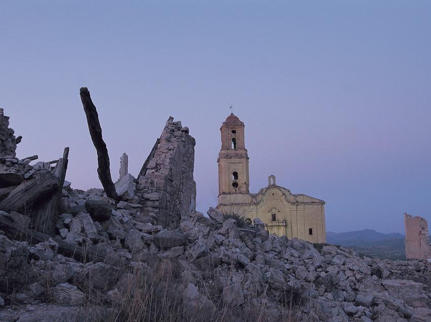 Poble vell de Corbera d'Ebre, destruído durante la Guerra Civil.  (Rafael López-Monné)
