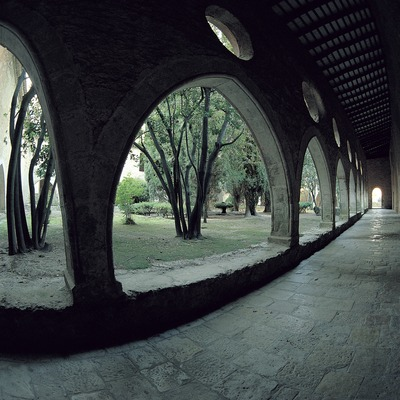 Claustro posterior del monasterio cisterciense de Santes Creus.  (Toni Vidal)
