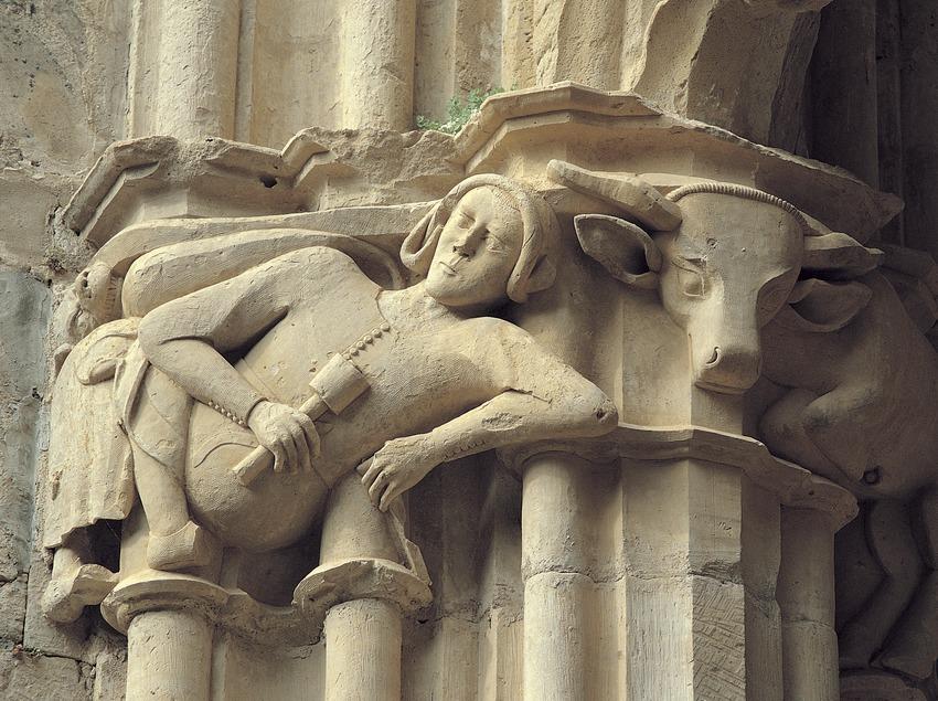 Monasterio cisterciense de Santes Creus. Capitel del claustro mayor, atribuido a Reinard des Fonoll  (Toni Vidal)