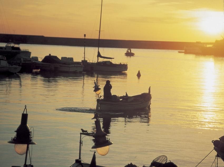 Port d'Arenys de Mar al capvespre.   (Ramon Manent)
