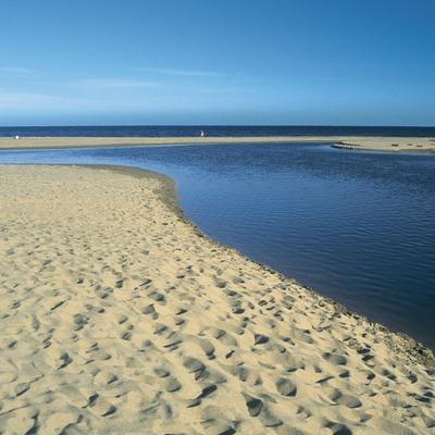 Desembocadura del riu Muga, al Parc Natural dels Aiguamolls de l'Empordà