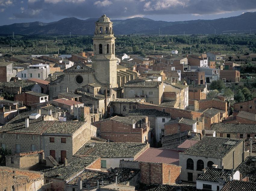 Vue d'Albi et de l'église Santa Maria.