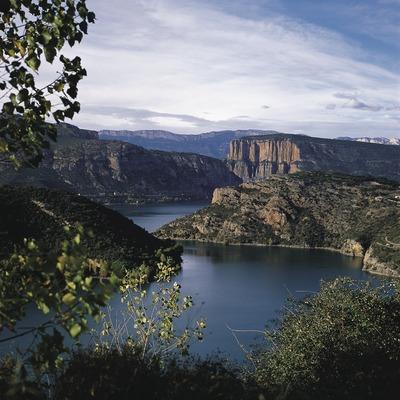 El riu Noguera Pallaresa al seu pas pel pantà de Camarassa.  (Francesc Tur)