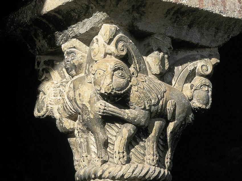 Capitel del claustro de la iglesia de Sant Jaume de Queralbs.  (Servicios Editorials Georama)