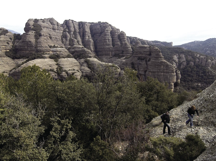 Roca del Corb i la Mola de Sant Honorat.  (Chopo (Javier García-Diez))