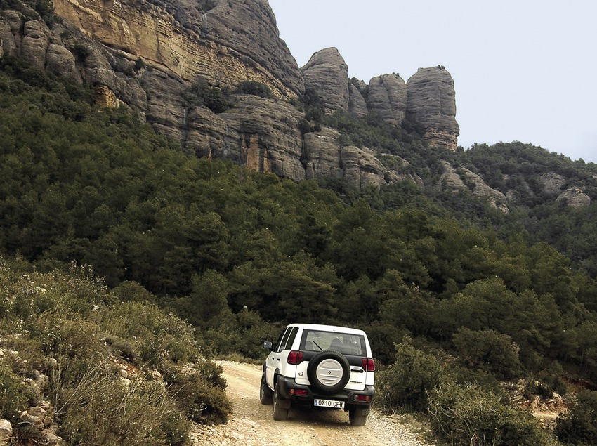 4x4 trip to Roca del Corb, with the Corb crag on the right