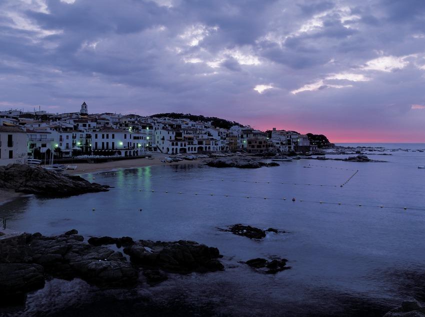 Morgengrauen in Calella.