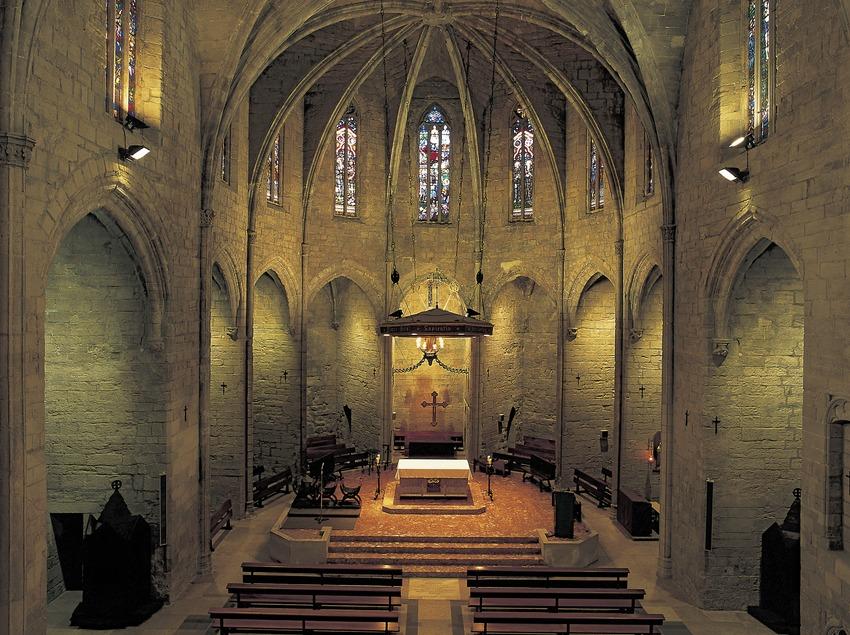 Interior de la iglesia de Santa Maria.  (Kim Castells)
