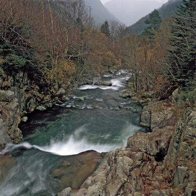 Descenso de aguas en la Noguera de Tor.  (Kim Castells)