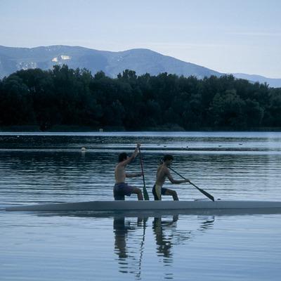Proves de rem a l'estany de Banyoles