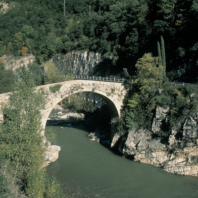 Medieval bridge over the river Llobregat  (Servicios Editorials Georama)