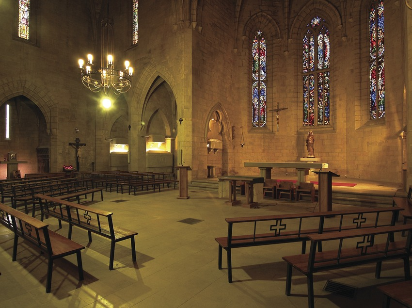 Iglesia del monasterio de Santa Maria de Bellpuig de les Avellanes.  (Chopo (Javier García-Diez))