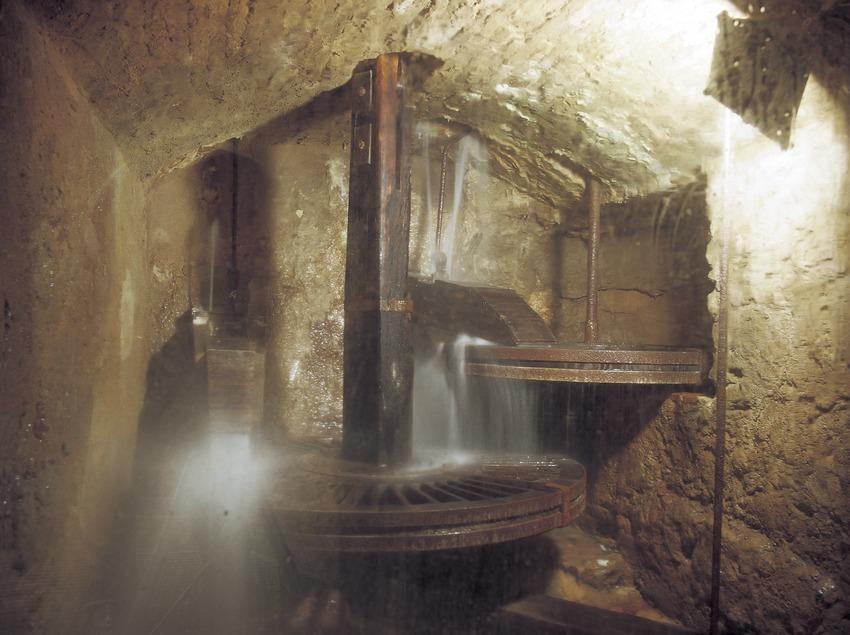Molí hidràulic al Molí de Les Tres Eres, seu del Museu d'Història de Cambrils  (Kim Castells)