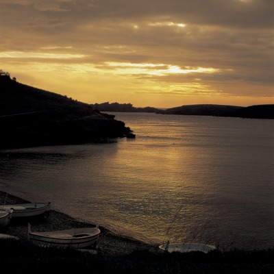 Dawn over the bay at Portlligat