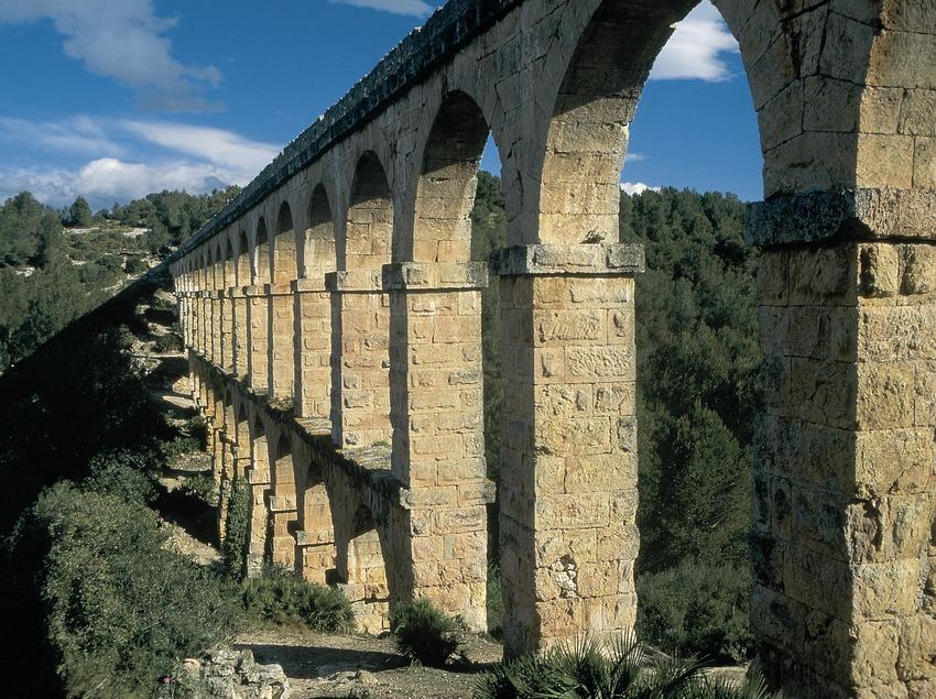 Aquädukt vonPont de les Ferreres oder das Teufelsaquädukt, Tarragona.