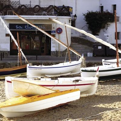 Barques a la platja d'es Poal.  (Miguel Angel Alvarez)