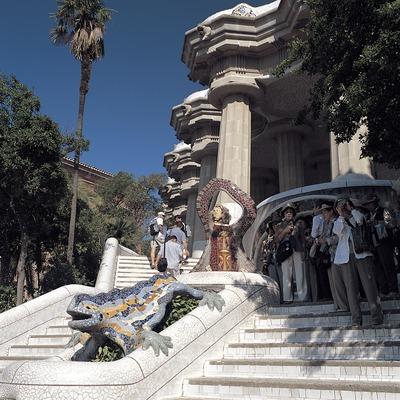 Escales d'entrada al Parc Güell, Barcelona.