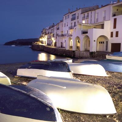 Barcas en la cala s'Alguer.