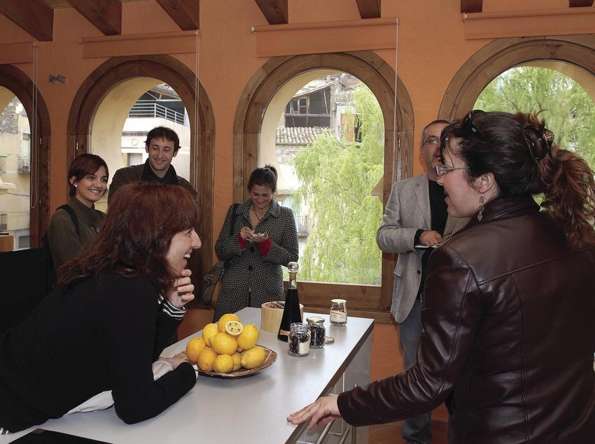 Journalisten im Spa-Hotel La Icona in Pont Vell, Porrera  (Tina Bagué)