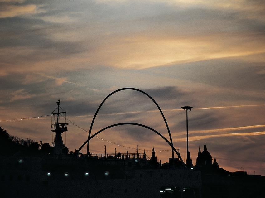 Capvespre sobre Montjuïc.  (Imagen M.A.S.)