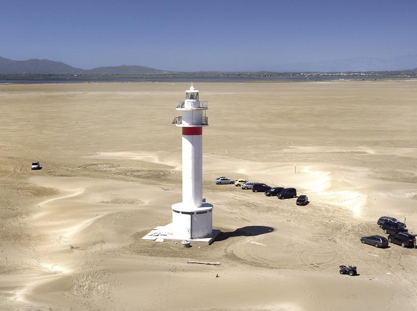 Leuchtturm im Delta de l'Ebre.