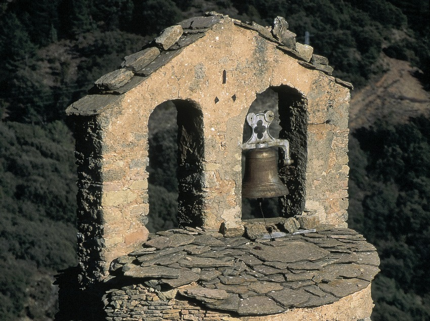 Torre rodona de l'església de Sant Sadurní de Gavarra.