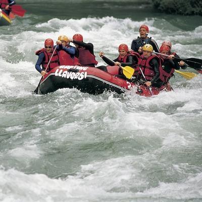 Rafting al riu Noguera Pallaresa.