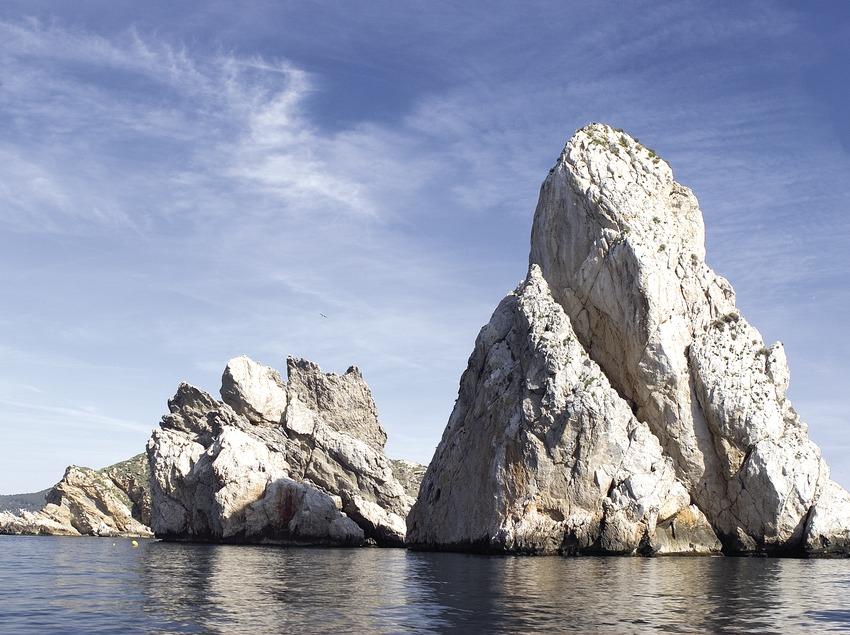 La roca Cavall Bernat, a les Illes Medes.  (Miguel Angel Alvarez)
