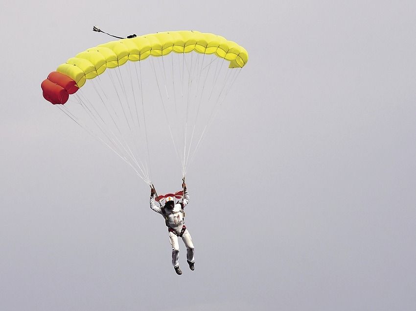 Parachutist at the Empuriabrava flying club
