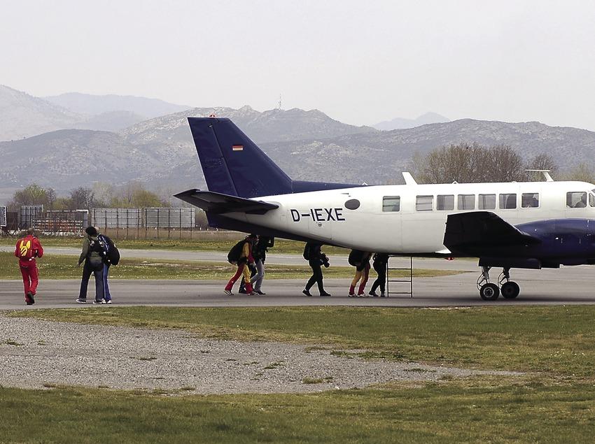 Avioneta a l'aeroclub d'Empuriabrava