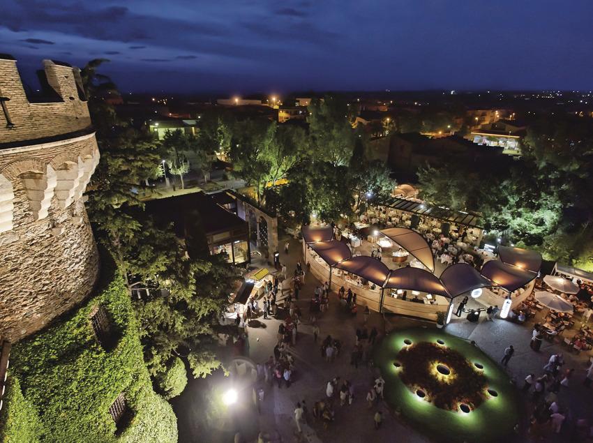 Vista aérea del Castell de Perelada