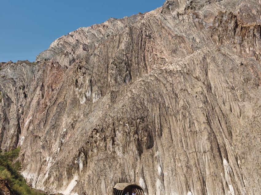 Montaña de sal exterior