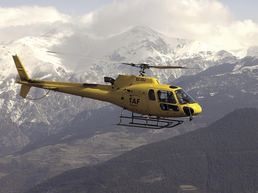 Helicopter near Alp airfield