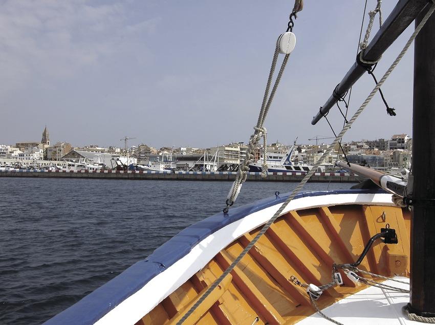 Laúd mallorquín arribando al puerto  (Chopo (Javier García-Diez))