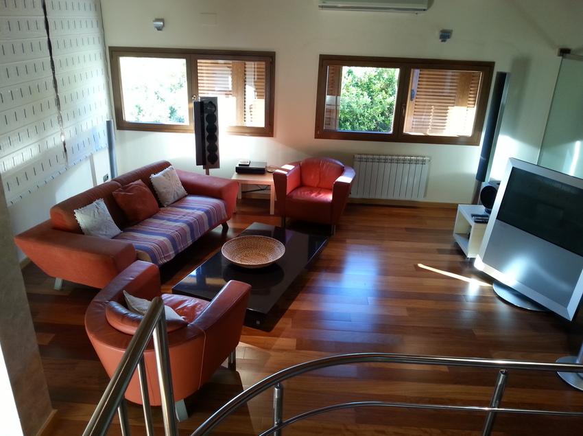 Panoràmica de la sala d'estar