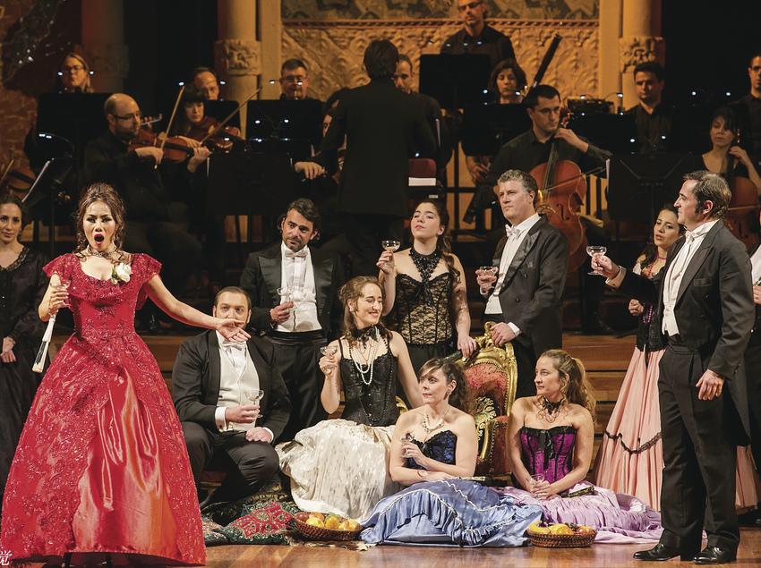 Representació de l'òpera La Traviata