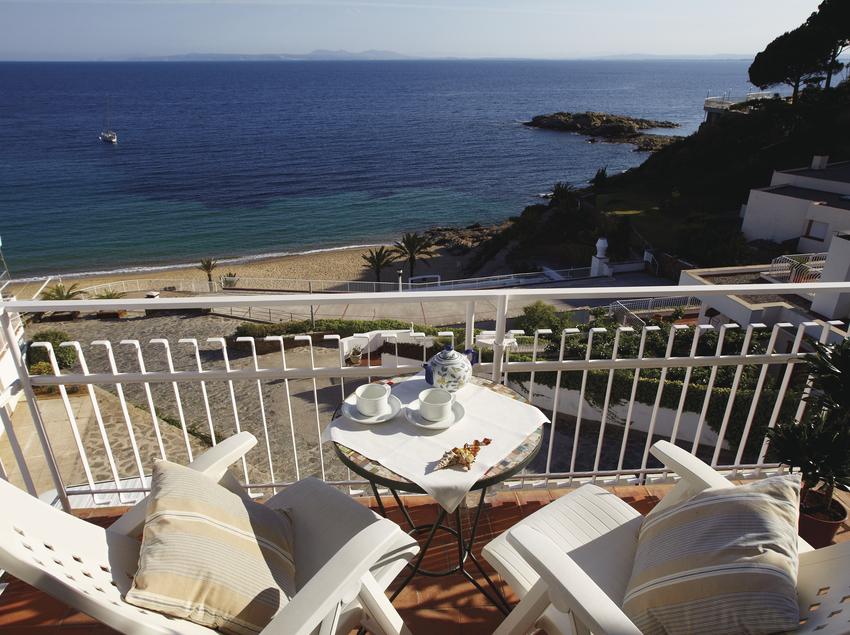 Terrassa amb vistes a la platja