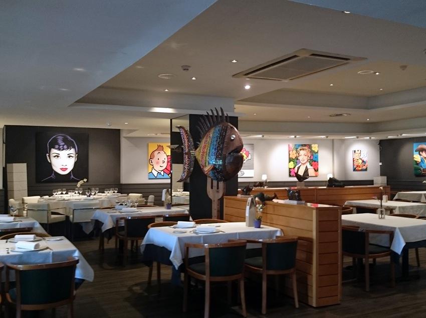 Restaurante del hotel Estela.