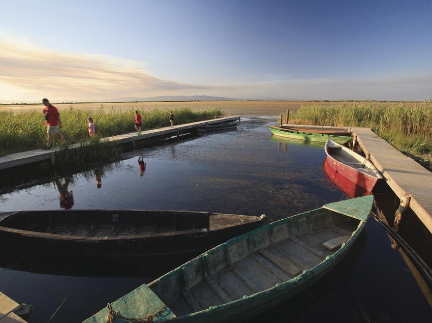 Embarcador a la llacuna del Garxal. (Mariano Cebolla)